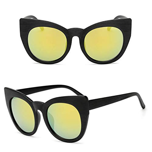 YUHANGH Sonnenbrille Frauen Vintage Großen Rahmen Übergroßen Männer Shades Retro Brille Frauen Eyewear Cat Eye Driving Goggles