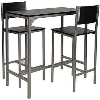 ts ideen 3 teilige essgruppe 3er set tisch st hle esstisch k chentisch alugestell in silber und. Black Bedroom Furniture Sets. Home Design Ideas