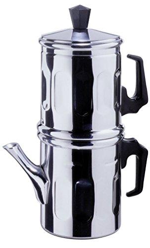 Cafetera tradicional napolitana de aluminio, para  1-2 tazas