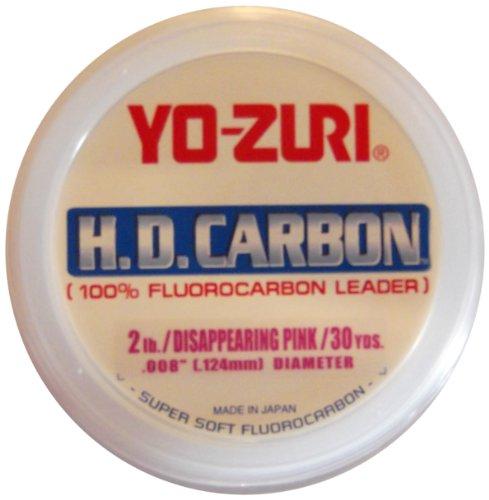 Yo-Zuri H.D. Fluorocarbon Vorfachschnur, 9 m, Rose, 4-Pound -