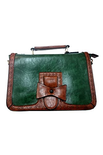 Banned Scandal vintage 1950S Style Bow bag–7colori Verde