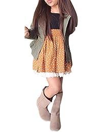 RETUROM la moda nuevo estilo 1 juego Coat + Fashion Kids muchacha del niño ropa de