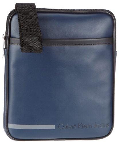 Calvin Klein Jeans Body Bag PVC, Sac bandoulière - Bleu - Blau (Dark Ink 70000), 28x28x3 cm (B x H x T)