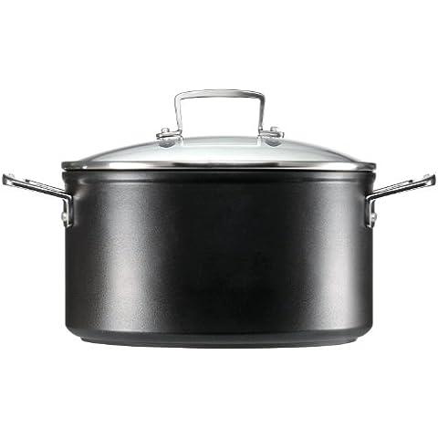 Le Creuset - Olla de aluminio con tapa, 20 cm, color negro