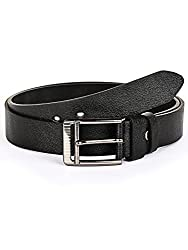 BuckleUp Mens Black Leather Formal Belt