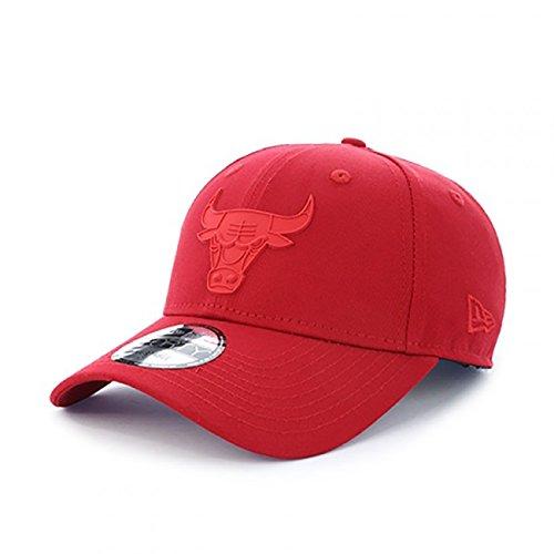 Neue Ära 9FORTY NBA Gummi-Logo Chicago Bulls Strapback Cap - O/S (Rot Neue ära Hut)