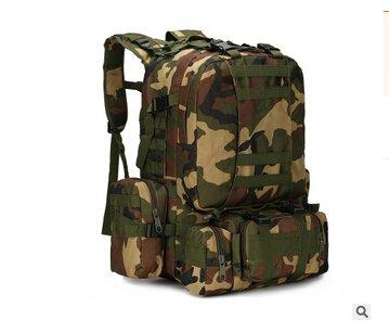 Mefly Zaino 50L Ampia Capacità Di Assalto Militare Di Viaggio Zaini Jungle Camouflage jungle camouflage