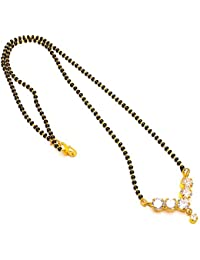 Jewar Mandi Gold-Plated Ad Mangalsutra For Women