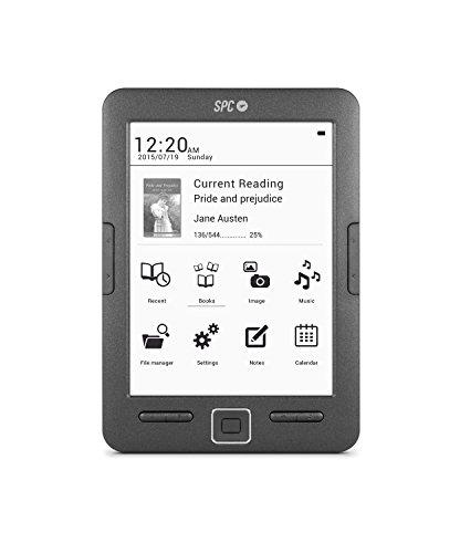 SPC 5608N E-Book-Reader mit 15,2 cm (6Zoll) und 8 GB, Schwarz