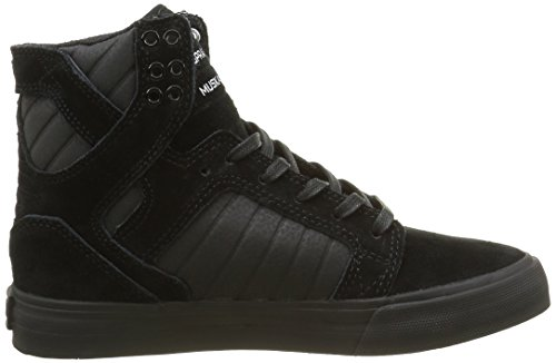 Supra Skytop, Baskets Hautes Femme Noir (Black/Black Blac)