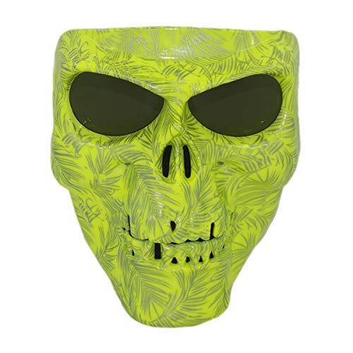Vhccirt Motorrad Racing Schutz Maske Polarisierte Brillen Skibrille Maske Halloween COS Skull Maske grün gost