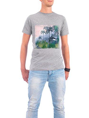 "Design T-Shirt Männer Continental Cotton ""Watercolor Tropics rose"" - stylisches Shirt Motiv von Tatiana Davidova Grau"