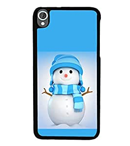 printtech Snowman Christmas Back Case Cover for HTC Desire 820::HTC Desire 820Q::HTC Desire 820S