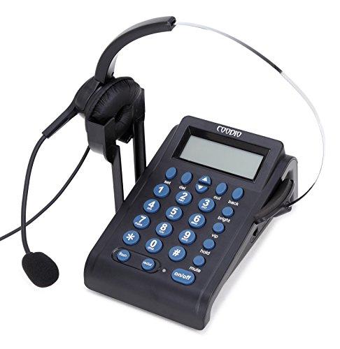 Schnurgebundenes Telefon, Coodio Schnurgebundenes Komforttelefon mit Headset Call Center Telefon mit Schnur - C999 (Telefon-anschluss-schnüre)