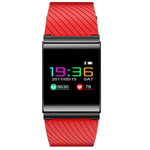 Smart Sportarmband Test Herzfrequenz Blutdruck Uhr Männlich Weiblich Wasserdicht Schrittzähler,Red