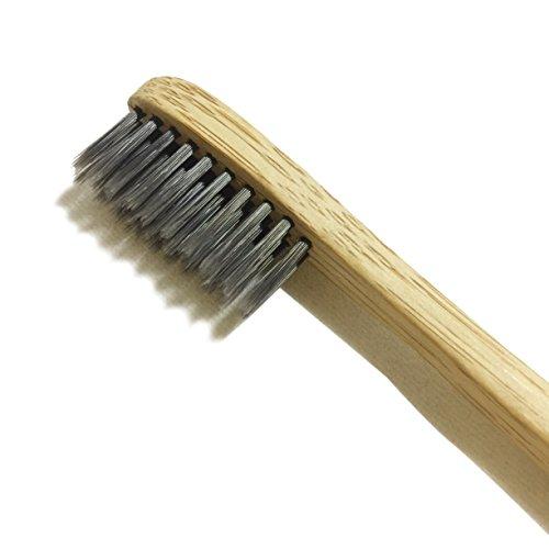 Aktivkohle-bulk (livecoco Bio Zahnbürste mit anthrazit Borsten   für Erwachsene   Pure Bambus Zahnbürste medium   100% biologisch abbaubar & Natural   Bambus Zahnbürste anthrazit   Zähne Whitening   Aktivkohle  )
