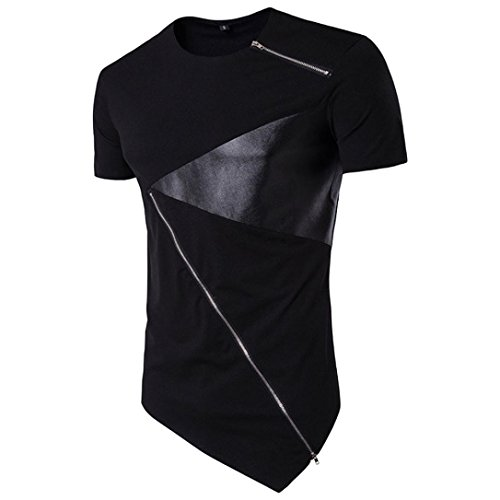 Kurzarm Raglan T-shirt (Herren O-Neck T-Shirt Shaped Raglan Slim Rundhals)