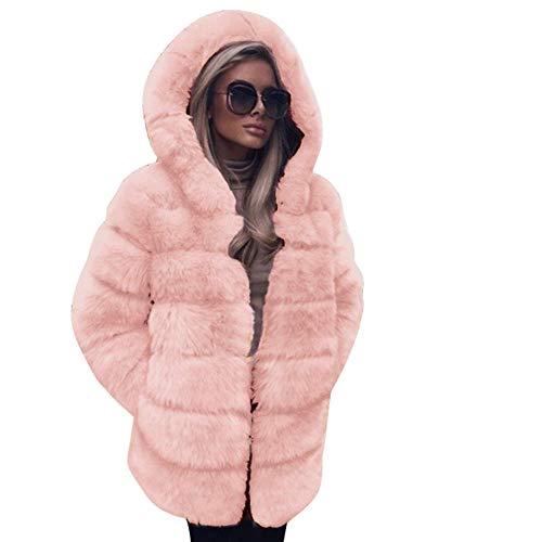 Riou trapuntato giacca donna elegante cappotto con cappuccio nuova moda peluche giacche giubbotto in ecopelle donna invernali imbottito pelliccia cappotti caldo eleganti pesante piumino donna
