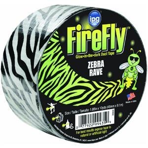 oup ZEB30 1.88-Inch by 10-Yard Fire Fly Zebra Glow in the Dark Duct Tape by Intertape Polymer Group (English Manual) ()