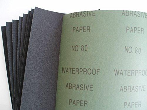 Bergen Nass- und Trocken-Schleifpapier, ganze Bögen, P80, 230 X 280 mm, B8089, 10 Stück (Berge Bogen)