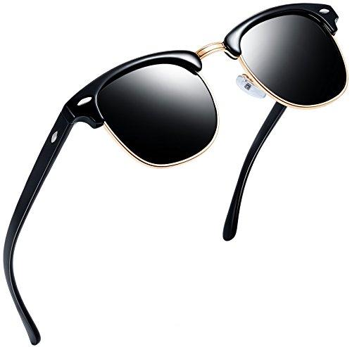 Joopin Semi-Rimless Polarized Sunglasses Women Men Brand Vintage Sun Glasses