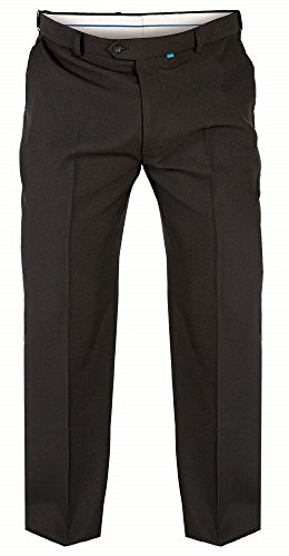 D555 MENS FORMAL FLEXI WAIST TROUSERS (MAX) IN BLACK IN WAIST 42 TO 70 INCHES, INSIDE 29/31/33