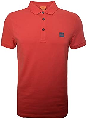Hugo Boss Men's Hugo Boss Orange Men's Slim Fit Medium Red Pavlik Polo Shirt