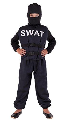 SWAT Kostüm für Kinder Deluxe - Polizei Kostüm für Kinder Jungen - Polizist Kostüm Kinder (Swat Kostüme Jungen)