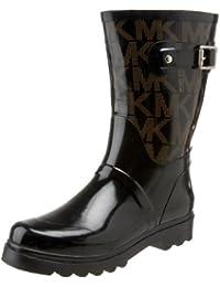 B00445JR7E Michael Michael Kors Women s MK Logo Mid Rainboot Boot Black 6 B(M) US