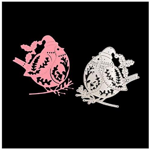 Katc Schön Stanzschablonen Metall Schneiden Schablonen für DIY Scrapbooking Album, Schneiden Schablonen Papier Karten Sammelalbum Dekor(Christmas Penguin)