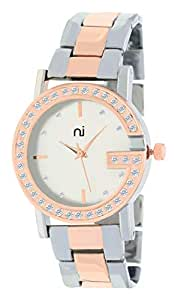Micacchi Anlogue Gold Dial Pink & Gold Combination Bangle Colour Women Watch & Girls Watches - Pnov