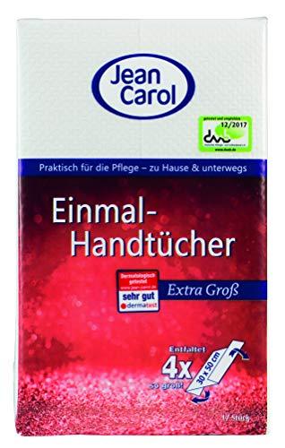 Jean Carol Einmal-Handtücher XXL, Extra stark, 17 Stück, 11er Pack (11 x 17 Stück)