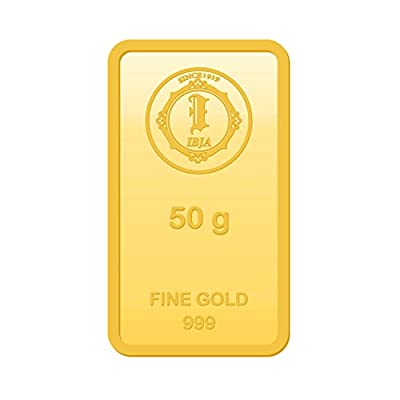 IBJA Gold 50 gm, 24KT Yellow Gold Bar