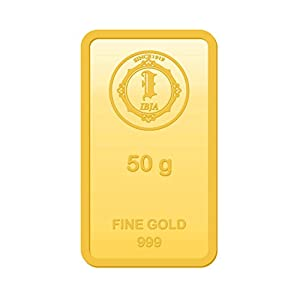 IBJA Gold 50 gm, 24KT Yellow Gold Bar