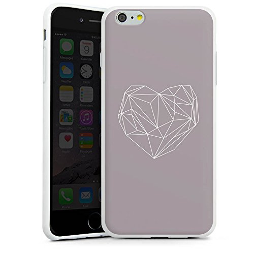 Apple iPhone X Silikon Hülle Case Schutzhülle Herz Liebe Love Silikon Case weiß