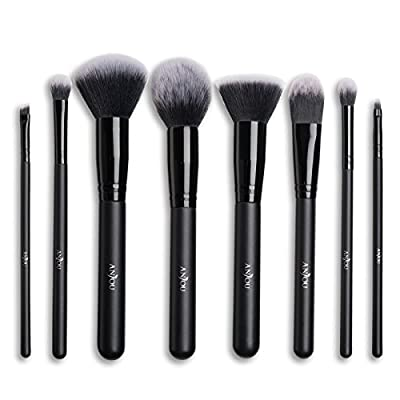Makeup Brush Set Anjou 8-Piece Beauty Brushes with Synthetic and Vegan Bristles, for all Consistencies (Powder, Creams & Liquids)