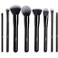 Makeup Brush Set Anjou 8pcs Beauty Brushes with Synthetic and Vegan Bristles, for All Consistencies (Powder, Creams and Liquids)
