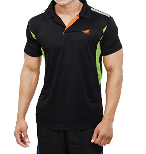 Nnn Men's Polyester T-Shirt (TSHIRT MICRO BLACK_M_Black_Medium)