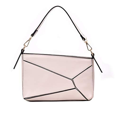 Faux Leder Medium Tote Tasche (☆Elecenty☆ Handtasche Damen Umhängetasche PU Ledertasche Kleine Umhängetaschen und Geldbörse für Mädchen und Frauen Einfache Kette Schulter Spleißen Handtaschen Brieftasche)