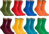 gigando - Socken Herren Baumwolle Uni Farben 4er oder 8er Pack in Premiumqualität - Strümpfe für Anzug, Business und Freizeit - rosa, grün, schwarz, blau, orange, petrol, gelb, bordeaux Gr. 35-38