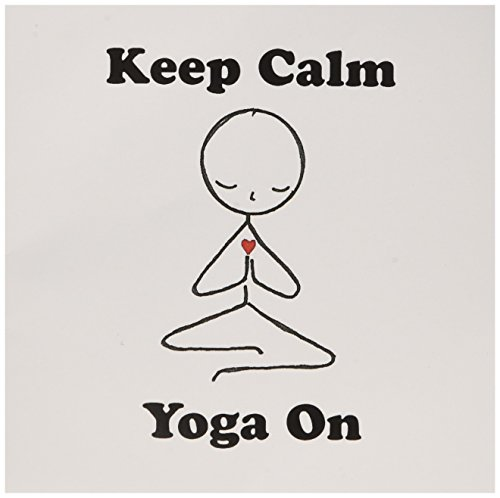 Keep Calm and Yoga auf, Asana – Grußkarte, 15,2 x 15,2 cm, Single (GC 123070 _ 5)