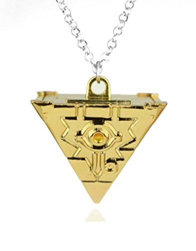 Aim And Achieve Ziel und Erreichen 3D Yu-Gi-Oh Halskette Anhänger Cosplay Pyramide Ägyptische Auge des Horus-Yu Gi-Oh YM1 (Yu Gi Oh Kostüm)