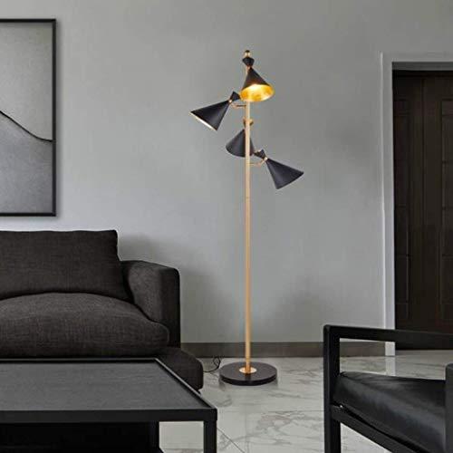 BUDBYU Einfache Stehlampe der Innenbeleuchtungs-Art, Marmorsockel-Standlicht für Wohnzimmer-Schlafzimmer-Büro -725 -