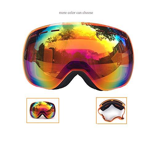 APJJ Doppelte Anti-Nebel-Skibrille Goggles Große Kugelförmige Skibrille Für Damen Und...