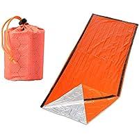 LIOOBO Saco de Dormir de Emergencia portátil Bolsas de Supervivencia Bolsas para Acampar Actividades para Caminar