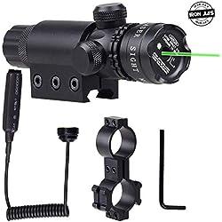 IRON JIA'S Ajustement extérieur Verte visée Laser Fusil Laser portée avec gratuits Dovetail Montage 8 Chiffre Monte