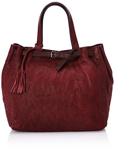 Loxwood Nanou Gm Boucle Style Zulu Damen Schultertaschen Rot (Rouge (Burgundy Dkb))