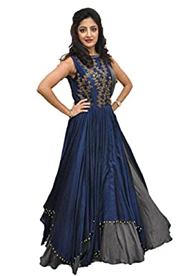 Rudra Zone Women's Banglory Gown With Jacket Gown for Party Wear Dress