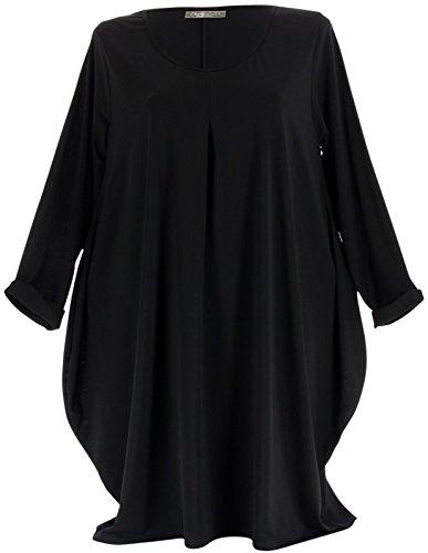 Charleselie94® - Robe boule Jersey Grande Taille noir OLIVE NOIR Noir