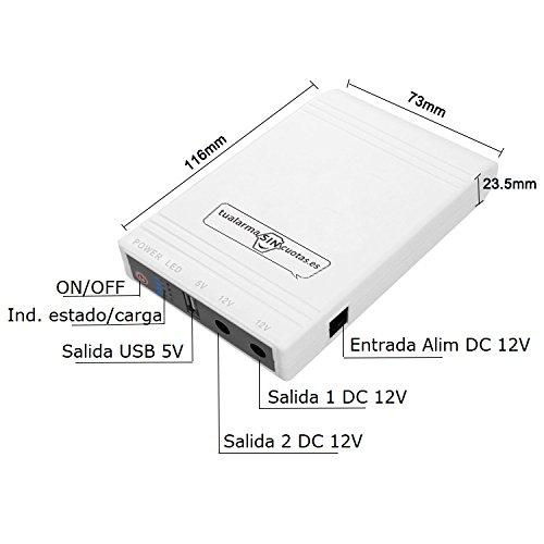 Mini UPS Mini SAI batería Interna Gran Capacidad